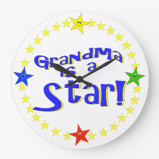 Grandma Is A Star Wall Clock
