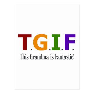 Grandma is Fantastic Postcard