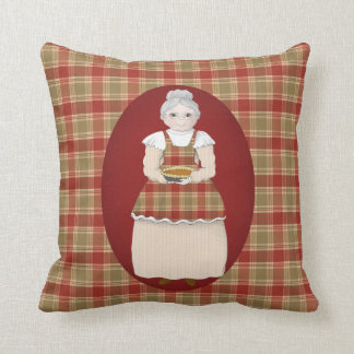 Grandma Is the Heart of Hearth and Home Throw Pillow