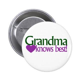 Grandma knows best 2 inch round button