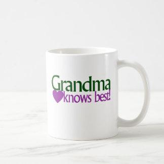 Grandma knows best basic white mug