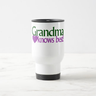 Grandma knows best 15 oz stainless steel travel mug