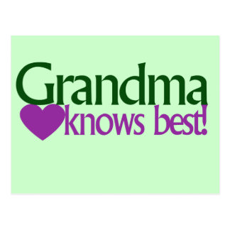 Grandma knows best postcard