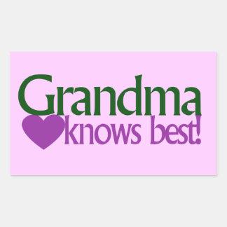 Grandma knows best rectangular sticker