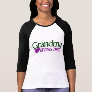 Grandma knows best t-shirt