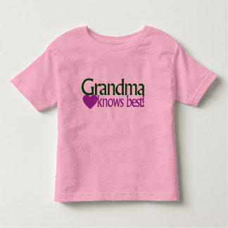 Grandma knows best toddler t-shirt
