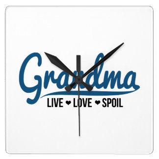 Grandma Live Love Spoil Clocks