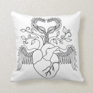 Grandma love heart angel colouring pillow