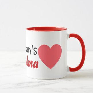 grandma love kids mug