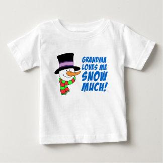 Grandma Loves Me Snow Much Baby T-Shirt