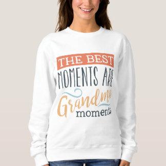 Grandma Moments word art cute sweatshirt