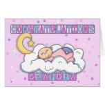 Grandma New Baby Girl Congratulations Greeting Cards