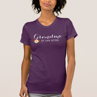 Grandma of the BrideTri-Flower T-Shirt