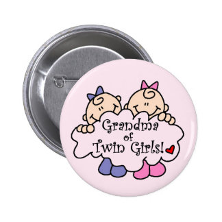 Grandma of Twin Girls Tshirts and Gifts 2 Inch Round Button