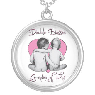GRANDMA OF TWINS DOUBLE BLESSED NECKLACE