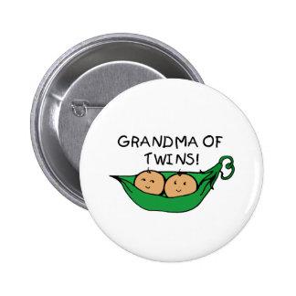Grandma of Twins Pod 2 Inch Round Button