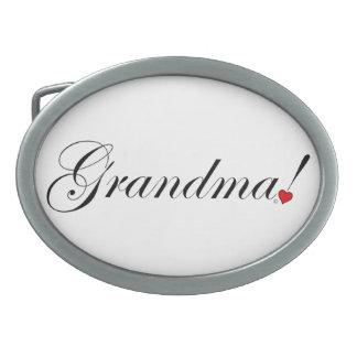 Grandma Oval Belt Buckle