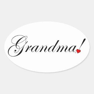 Grandma Oval Sticker