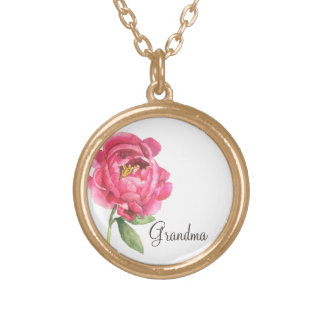 Grandma Peony Necklace Mother's Day Gift