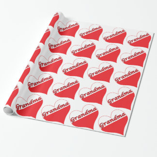 Grandma Polish Heart Wrapping Paper