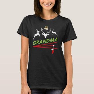 Grandma Reindeer Hoof prints Christmas T-Shirt