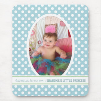 Grandma s Little Angel Blue Picture Mousepad