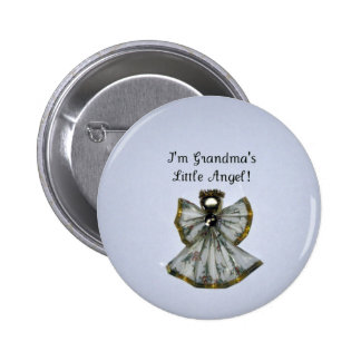 Grandma s little angel pinback buttons