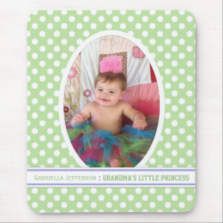 Grandma s Little Angel Green Picture Mousepad