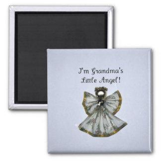 Grandma s little angel refrigerator magnet
