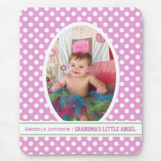 Grandma s Little Angel Pink Picture Mousepad