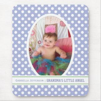 Grandma s Little Angel Purple Picture Mousepad