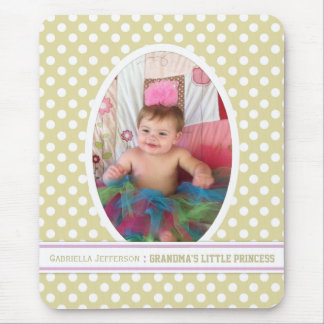 Grandma s Little Angel Yellow Picture Mousepad