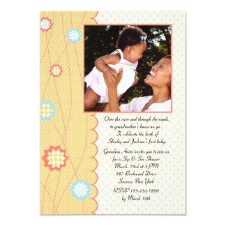 Grandma Sip and See Baby Shower Invitation