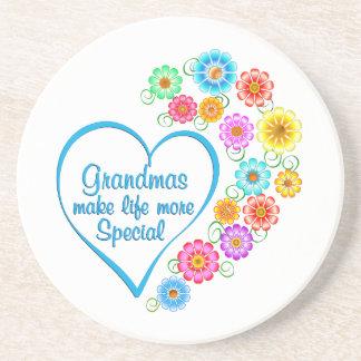 Grandma Special Heart Coaster