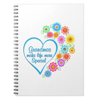 Grandma Special Heart Notebooks