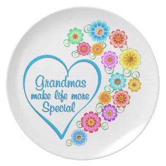 Grandma Special Heart Plate