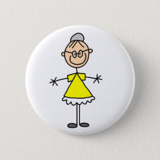 Grandma Stick Figure Button