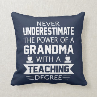 Grandma Teacher Throw Pillow