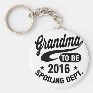 Grandma To Be 2016 Keychain