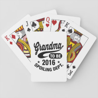 Grandma To Be 2016 Playing Cards