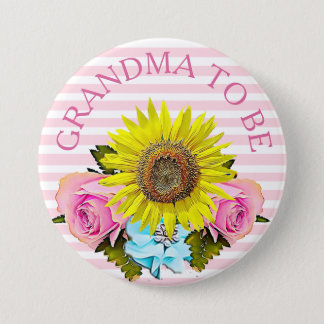 Grandma to be Baby Shower button