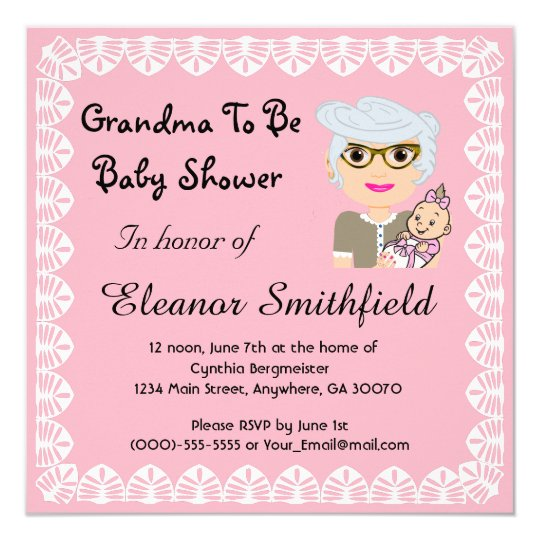 GrandMa To Be Baby Shower Invitation