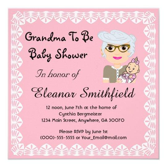 GrandMa To Be Baby Shower Invitation