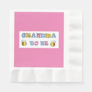 Grandma to Be Disposable Napkins