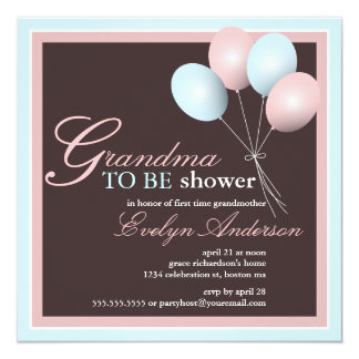 Grandma to be First Grandchild Baby Shower Card