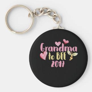 Grandma to bee 2017 basic round button keychain