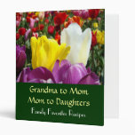 Grandma to Mom to Daughters Family Favourite recip Vinyl Binder