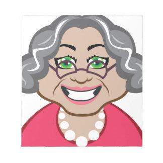Grandma vector notepads