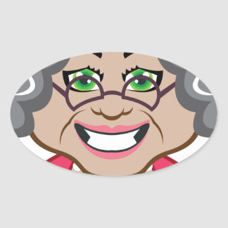 Grandma vector oval sticker