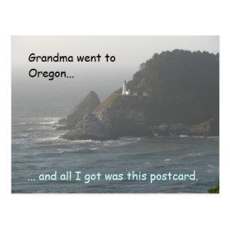 Grandma Went to Oregon... Postcard